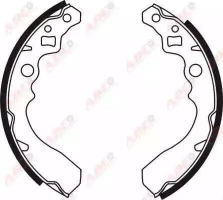 ABE C06008ABE - Jeu de freins, freins à tambour www.widencarpieces.com