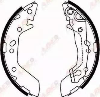 ABE C00515ABE - Jeu de freins, freins à tambour www.widencarpieces.com