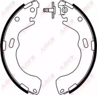 ABE C03043ABE - Jeu de freins, freins à tambour www.widencarpieces.com