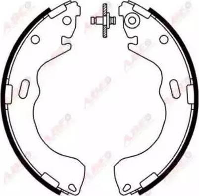 ABE C03047ABE - Jeu de freins, freins à tambour www.widencarpieces.com