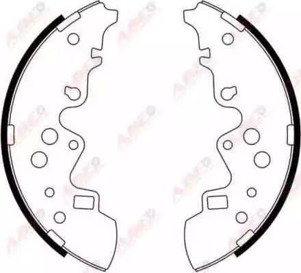 ABE C03052ABE - Jeu de freins, freins à tambour www.widencarpieces.com