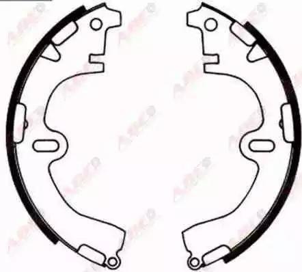 ABE C02001ABE - Jeu de freins, freins à tambour www.widencarpieces.com