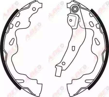 ABE C02074ABE - Jeu de freins, freins à tambour www.widencarpieces.com