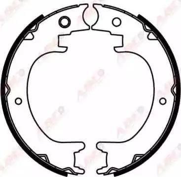 ABE C07014ABE - Jeu de mâchoires de frein, frein de stationnement www.widencarpieces.com