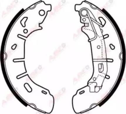 ABE C0F034ABE - Jeu de freins, freins à tambour www.widencarpieces.com
