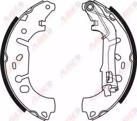 ABE C0F031ABE - Jeu de freins, freins à tambour www.widencarpieces.com