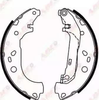 ABE C0G050ABE - Jeu de freins, freins à tambour www.widencarpieces.com