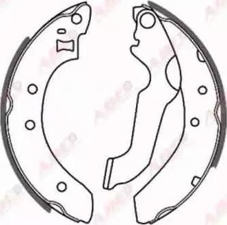 ABE C0G014ABE - Jeu de freins, freins à tambour www.widencarpieces.com