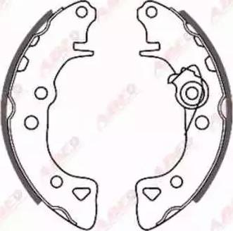 ABE C0P006ABE - Jeu de freins, freins à tambour www.widencarpieces.com