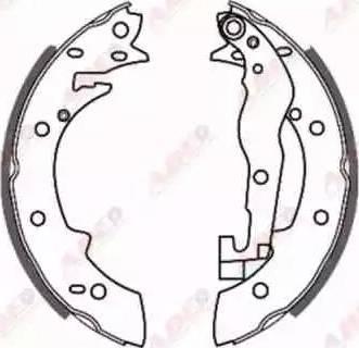 ABE C0P001ABE - Jeu de freins, freins à tambour www.widencarpieces.com