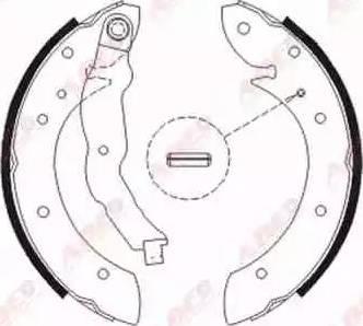 ABE C0R011ABE - Jeu de freins, freins à tambour www.widencarpieces.com
