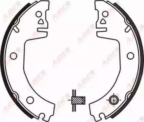 ABE C0S001ABE - Jeu de freins, freins à tambour www.widencarpieces.com