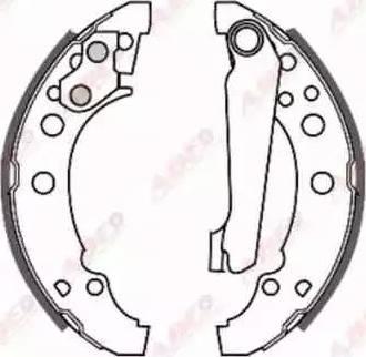 ABE C0W001ABE - Jeu de freins, freins à tambour www.widencarpieces.com