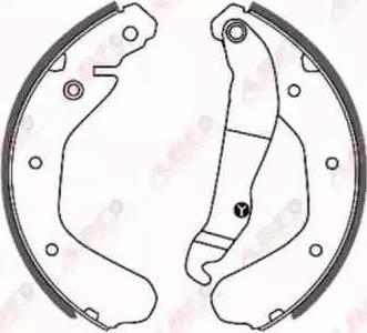 ABE C0X005ABE - Jeu de freins, freins à tambour www.widencarpieces.com