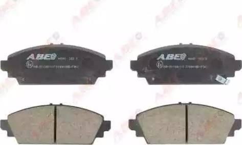 ABE C14041ABE - Kit de plaquettes de frein, frein à disque www.widencarpieces.com