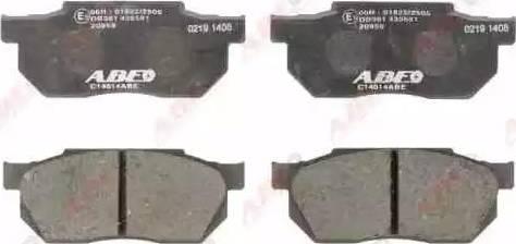 ABE C14014ABE - Kit de plaquettes de frein, frein à disque www.widencarpieces.com