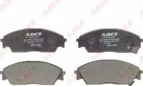 ABE C14023ABE - Kit de plaquettes de frein, frein à disque www.widencarpieces.com