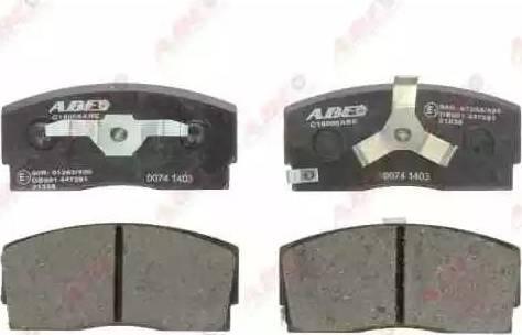 ABE C16006ABE - Kit de plaquettes de frein, frein à disque www.widencarpieces.com
