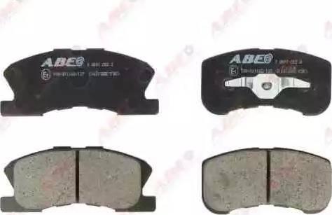 ABE C16013ABE - Kit de plaquettes de frein, frein à disque www.widencarpieces.com
