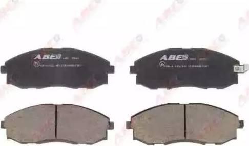 ABE C10506ABE - Kit de plaquettes de frein, frein à disque www.widencarpieces.com