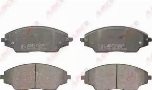 ABE C10025ABE - Kit de plaquettes de frein, frein à disque www.widencarpieces.com