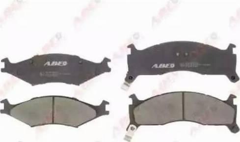 ABE C10302ABE - Kit de plaquettes de frein, frein à disque www.widencarpieces.com