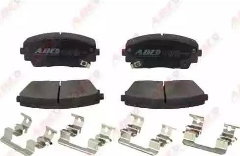 ABE C10334ABE - Kit de plaquettes de frein, frein à disque www.widencarpieces.com