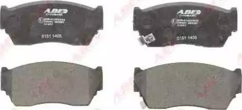 ABE C11048ABE - Kit de plaquettes de frein, frein à disque www.widencarpieces.com