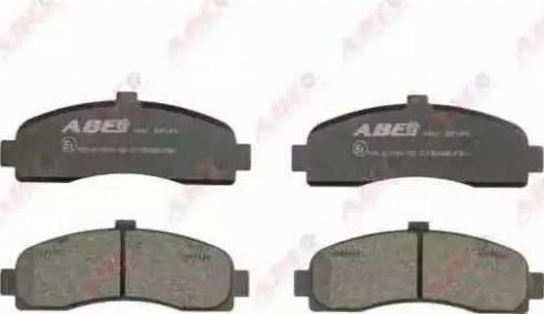 ABE C11053ABE - Kit de plaquettes de frein, frein à disque www.widencarpieces.com