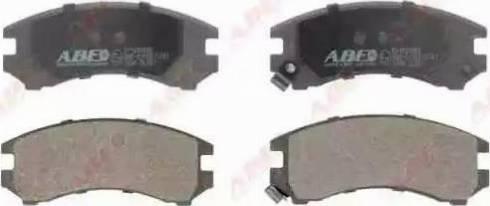 ABE C11035ABE - Kit de plaquettes de frein, frein à disque www.widencarpieces.com