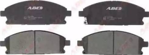 ABE C11076ABE - Kit de plaquettes de frein, frein à disque www.widencarpieces.com