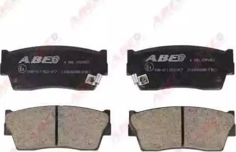 ABE C18006ABE - Kit de plaquettes de frein, frein à disque www.widencarpieces.com
