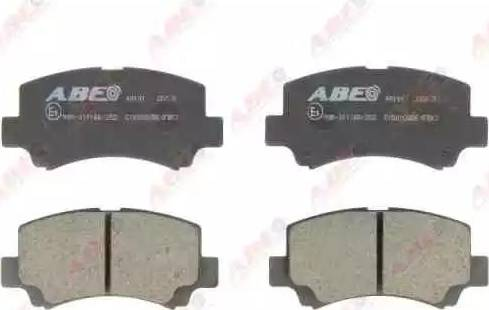 ABE C18002ABE - Kit de plaquettes de frein, frein à disque www.widencarpieces.com