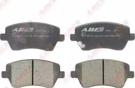 ABE C18019ABE - Kit de plaquettes de frein, frein à disque www.widencarpieces.com