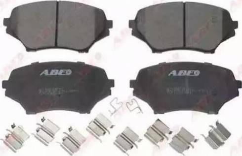 ABE C13059ABE - Kit de plaquettes de frein, frein à disque www.widencarpieces.com