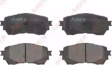 ABE C13068ABE - Kit de plaquettes de frein, frein à disque www.widencarpieces.com
