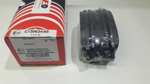 ABE C13063ABE - Kit de plaquettes de frein, frein à disque www.widencarpieces.com