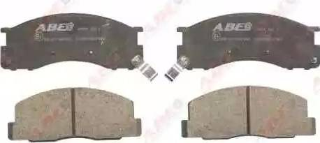 ABE C12059ABE - Kit de plaquettes de frein, frein à disque www.widencarpieces.com