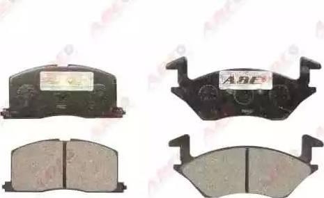 ABE C12057ABE - Kit de plaquettes de frein, frein à disque www.widencarpieces.com