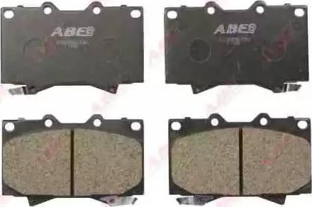 ABE C12088ABE - Kit de plaquettes de frein, frein à disque www.widencarpieces.com