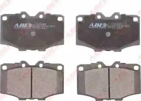 ABE C12036ABE - Kit de plaquettes de frein, frein à disque www.widencarpieces.com