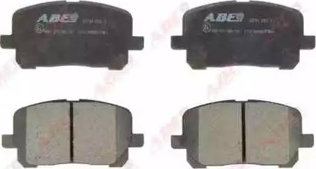 ABE C12102ABE - Kit de plaquettes de frein, frein à disque www.widencarpieces.com