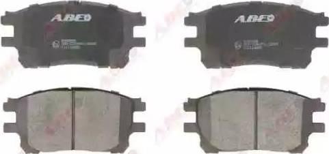 ABE C12114ABE - Kit de plaquettes de frein, frein à disque www.widencarpieces.com