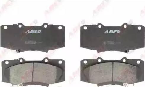ABE C12136ABE - Kit de plaquettes de frein, frein à disque www.widencarpieces.com
