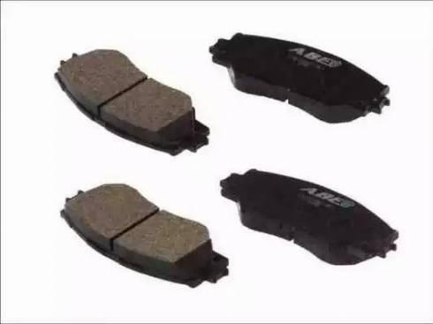 ABE C12121ABE - Kit de plaquettes de frein, frein à disque www.widencarpieces.com