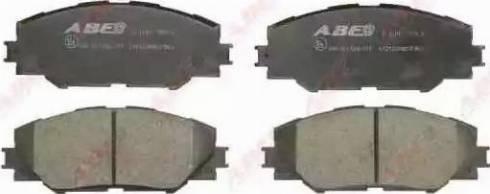 ABE C12122ABE - Kit de plaquettes de frein, frein à disque www.widencarpieces.com