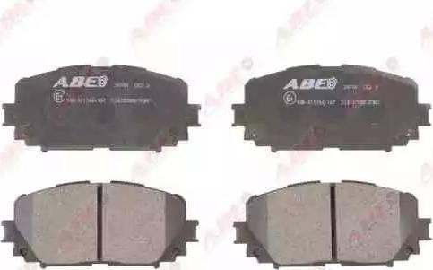 ABE C12127ABE - Kit de plaquettes de frein, frein à disque www.widencarpieces.com