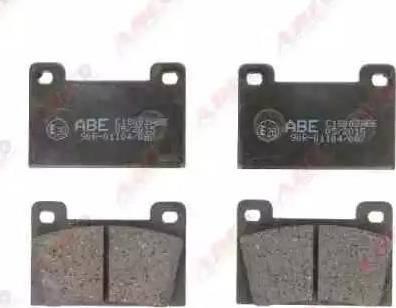 ABE C1S002ABE - Kit de plaquettes de frein, frein à disque www.widencarpieces.com