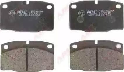 ABE C1X000ABE - Kit de plaquettes de frein, frein à disque www.widencarpieces.com