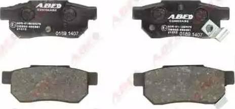 ABE C24002ABE - Kit de plaquettes de frein, frein à disque www.widencarpieces.com